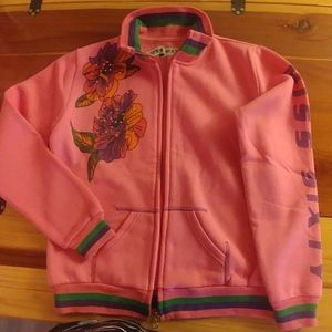 Miss Sixty pink jacket with flower print